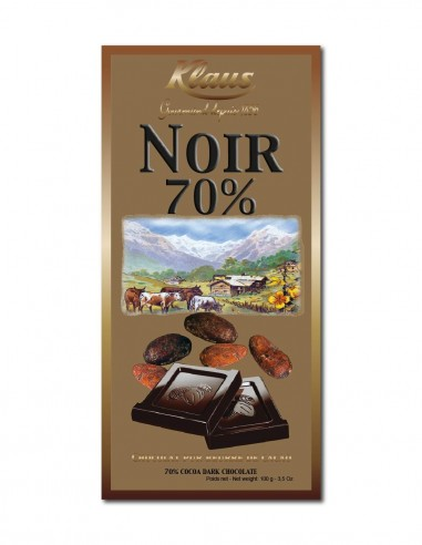 TABLETTE OR CHOCOLAT NOIR 70% 100G