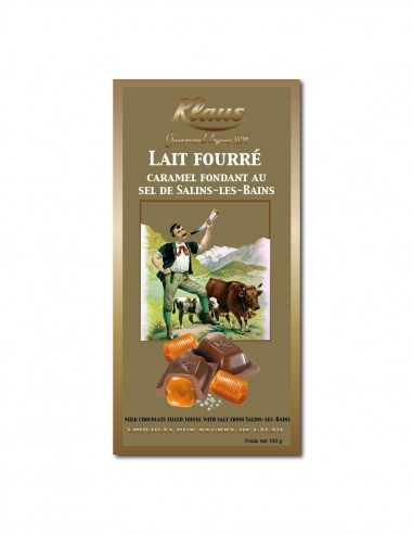 TABLETTE OR CHOCOLAT LAIT 30% FOURRÉE...