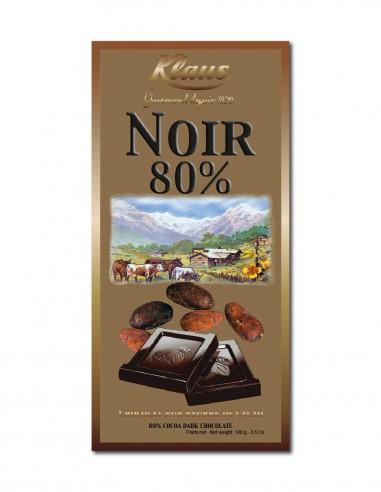TABLETTE OR CHOCOLAT NOIR 80% 100G