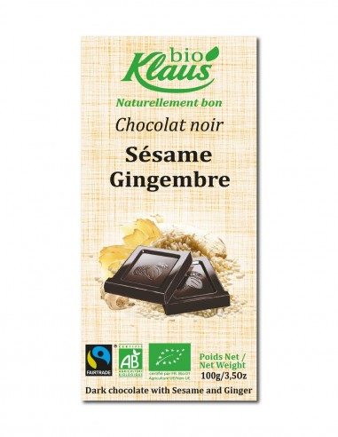 TABLETTE BIO CHOCOLAT NOIR 49% SESAME...