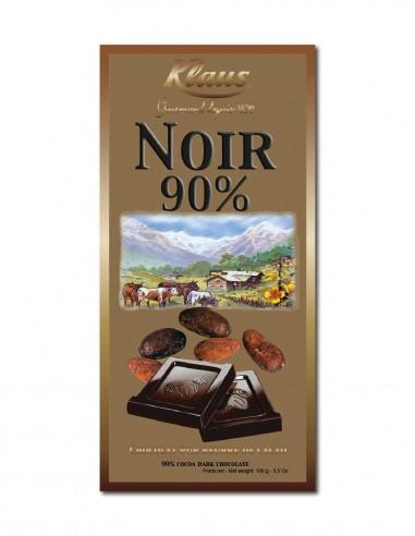 TABLETTE OR CHOCOLAT NOIR 90% 100G