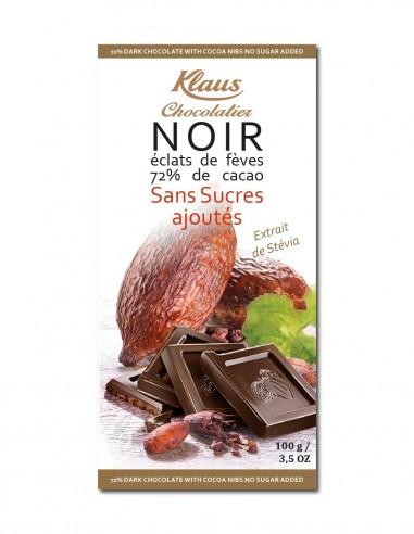 TABLETTE SANS SUCRES CHOCOLAT NOIR...