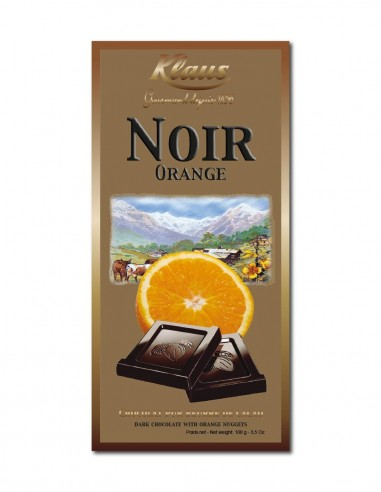 TABLETTE OR CHOCOLAT NOIR 49% ORANGE...