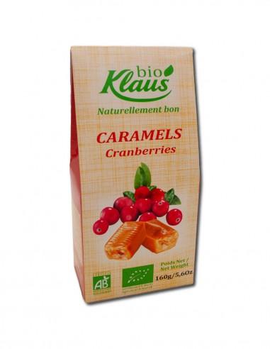 CARAMELS BIO FOURRÉS CRANBERRIES 160G
