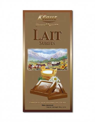 TABLETTE OR CHOCOLAT LAIT 30% SURFIN...